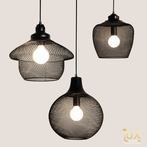Vintage Industrial Pittsburgh Pendant Light with Matte Black Oven-baked Paintwork fitted with LED Edison Bulbs for a complete Industrial feel from Lux-Lumens, Singapore's Fully-Online Lighting Retail for BTO, Resale, EC, Condo, Landed, Restaurants, Cafes, Hotels & Retail Shops. Free-Delivery, No Minimum Purchase!