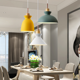 Lux-Lumens | Singapore's Fully-Online Lighting Retail - Pendant Lights, LED Ceiling Lights & Fans. Example of Scandinavian Macrons Mix&Match Pendant Light Hanging over Dining Table. Free-Island Wide Delivery - No Minimum Purchase for all BTO, Resale, EC, Condo, Restaurants, Cafe, Hotels & Retail.