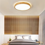 Scandinavian Wood LED Ceiling Light - Round. Free Delivery for all BTO, Resale, EC, Condo, Landed, Restaurants, Hotels, Cafes & Retail Lighting.