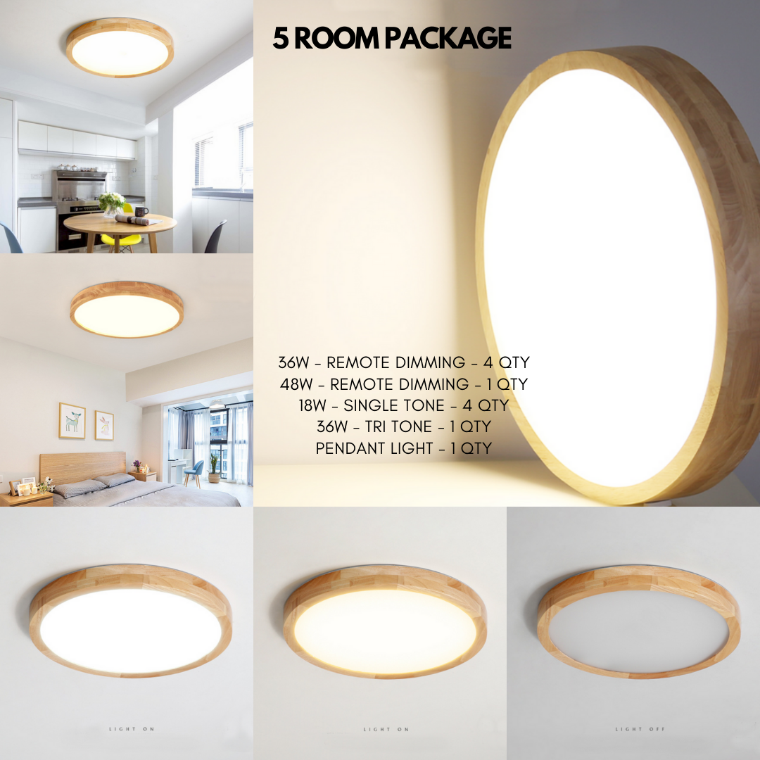 3/4/5 Room - Scandinavian Full Wood Package