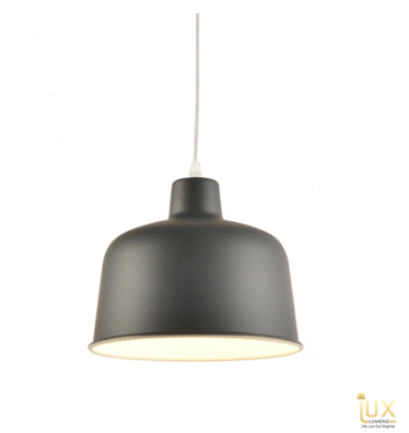 Lux-Lumens | Singapore's Fully-Online Lighting Retail - Pendant Lights, LED Ceiling Lights & Fans. Complement your Scandinavian & Nordic Themed Homes/Business with the Scandinavian Macron Bowl - Sumatran Black Pendant Light. LED Bulbs Compatible. Free Island-wide Delivery - No Minimum Purchase for all BTO, Resale, EC, Condo, Restaurants, Cafes, Hotel & Retail Lighting.