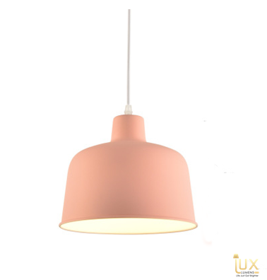 Lux-Lumens | Singapore's Fully-Online Lighting Retail - Pendant Lights, LED Ceiling Lights & Fans. Complement your Scandinavian & Nordic Themed Homes/Business with the Scandinavian Macron Bowl - Cherry Blossom Pink Pendant Light. LED Bulbs Compatible. Free Island-wide Delivery - No Minimum Purchase for all BTO, Resale, EC, Condo, Restaurants, Cafes, Hotel & Retail Lighting.