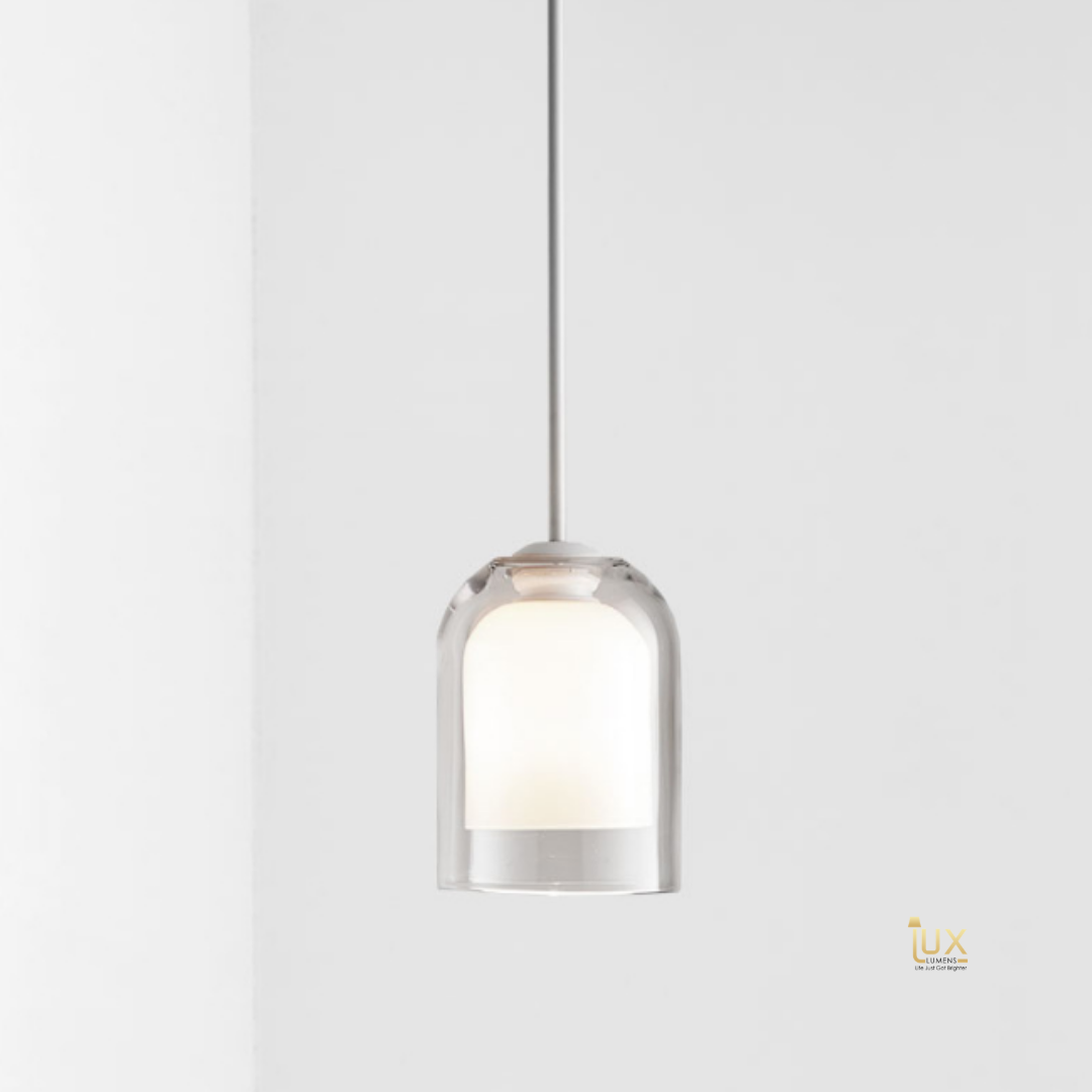 Modern Glassware Pendant Lights, Clear Glass, Clean Finishes and Modern Design Looks, compatible with LED Light Bulbs from Lux-Lumens, Singapore's Fully-Online Lighting Retail for BTO, Resale, EC, Condo, Landed, Restaurants, Cafes, Hotels & Retail Shops. Free-Delivery, No Minimum Purchase in Singapore!