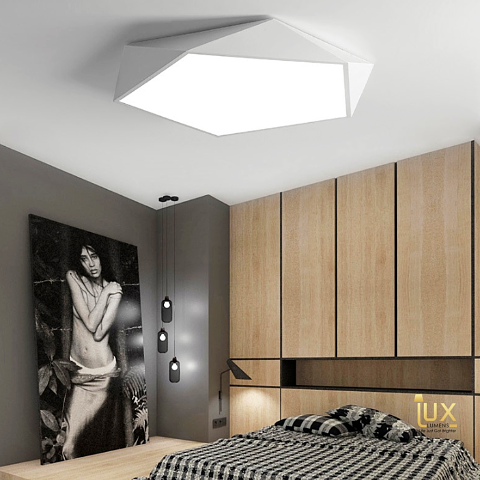 Lux-Lumens | Singapore's Fully-Online Lighting Retail - Pendant Lights, LED Ceiling Lights & Fans. Get the Modern Black & White | Pentagon LED Ceiling Light to complement your Modern Themes. Instant utility savings of up to 40% choosing LED Ceiling Lights. Free Island-wide Delivery - No Minimum Purchase for all BTO, Resale, EC, Condo, Restaurants, Cafes, Hotel & Retail Lighting.