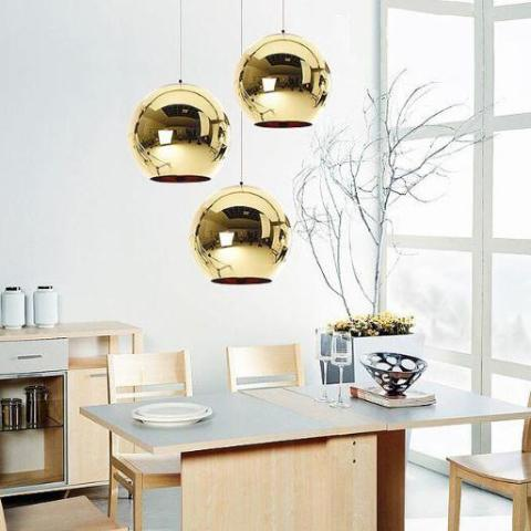 Singapore's Fully-Online Lighting Retail - Modern Rose Gold Pendant Lights, LED Ceiling Lights & Fans. Modern meets Luxury with the Chrome-Plated Round Pendant Light. Instant utility savings of up to 40% by fitting the lamp with LED Bulbs. Free Island-wide Delivery - No Minimum Purchase for all BTO, Resale, EC, Condo, Restaurants, Cafes & Hotel.