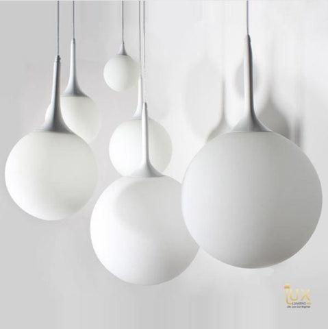 Minimalist Round-Cream Coloured Pendant Light from Lux-Lumens | Singapore's fully-online lighting retail. Pendant and LED Ceiling Lights/Fans for HDB BTO, Resale, EC, Condo, Landed, Restaurants, Cafes and Hotels