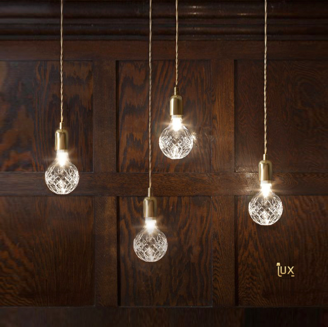 CRYSTAL GLASS - Bulb Pendant Light