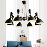 Black Gold Luxurious Chandelier Ceiling Lights for BTO, Resale, EC, Condo, Landed, Restaurants, Hotels, Cafes & Retail Lighting. Compatible with LED Bulbs. Free-Delivery - No Min Purchase
