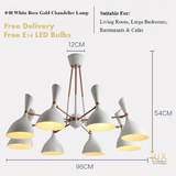 Rose Gold Chandelier Ceiling Lights for BTO, Resale, EC, Condo, Landed, Restaurants, Hotels, Cafes & Retail Lighting. Compatible with LED Bulbs. Free-Delivery - No Min Purchase