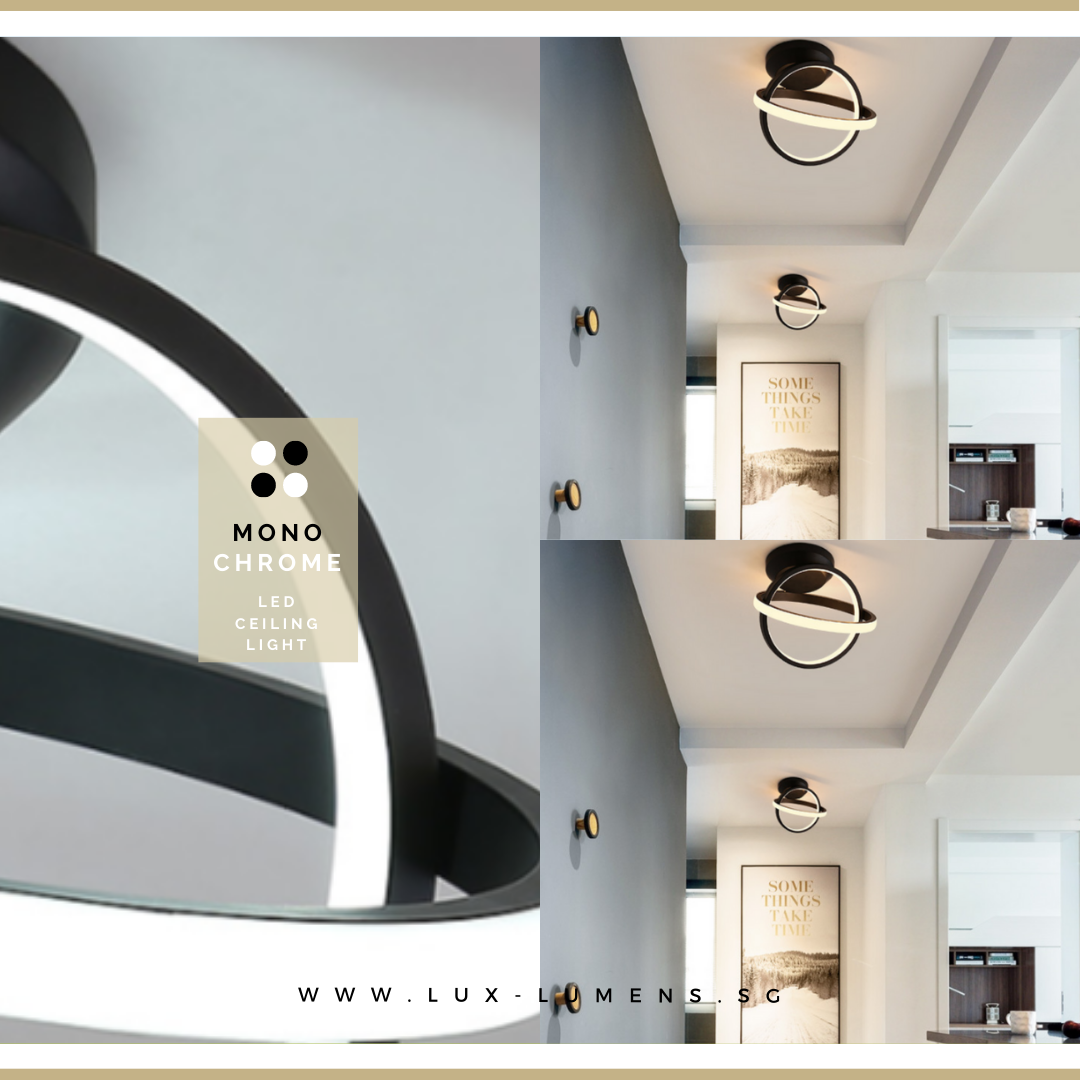 Singapore's Fully Online Lighting Gallery. Monochromatic LED Ceiling Lights for all BTO HDB, Resale, Landed, Condo & Restaurant Lighting needs, Ultra Modern, Ultra Slim & High Quality. Free Delivery + 6 Months Warranty on all LED Ceiling Lights