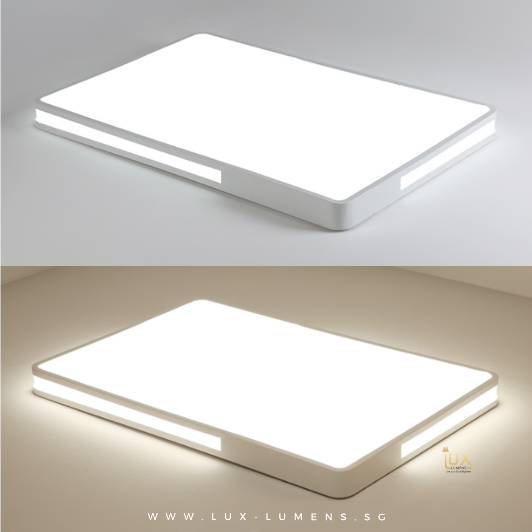 Einfarbig - Rectangle LED Ceiling Light