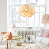 Soft Luxurious Geese Feathers Pendant Lights from Singapore's Online Lighting Retail. Free delivery for BTO, Resale, Ec, Condo, Landed, Restaurants, Cafes, Retail & Hotel Lighting.