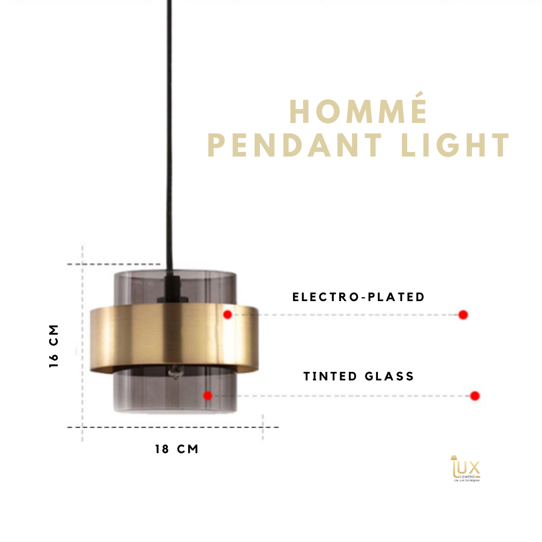 Hommé Glassware Pendant Light