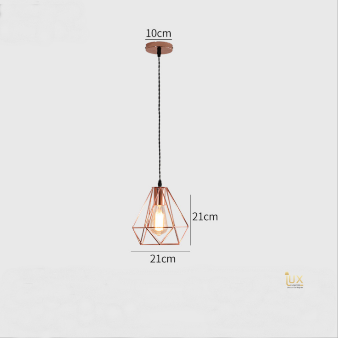 Singapore's Fully-Online Lighting Retail - Pendant Lights, LED Ceiling Lights & Fans. Modern meets Luxury with the Rose Gold-Caged Pendant Light. Instant utility savings of up to 40% by fitting the lamp with LED Bulbs. Free Island-wide Delivery - No Minimum Purchase for all BTO, Resale, EC, Condo, Restaurants, Cafes & Hotel.
