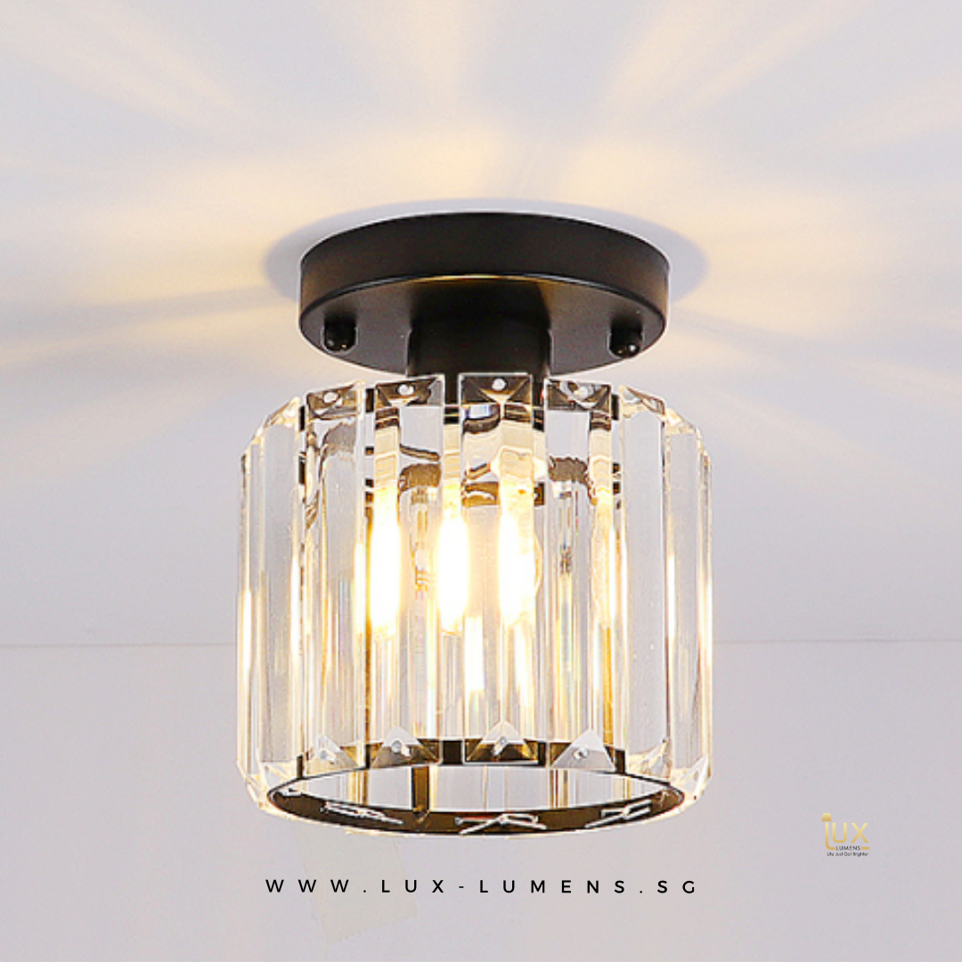 Singapore's Fully-Online Lighting Gallery - Pendant Lights, Hanging Lamps, LED Ceiling Lights, Ceiling Fixtures & Wall Lamps. Luxe - Crystal Glass Ceiling Lamp with Free Delivery - No Min. Purchase for all BTO Home Lighting, Resale Home Lighting, EC / Condo Home Lighting, Restaurants Lighting, Cafes & Retail Lighting.