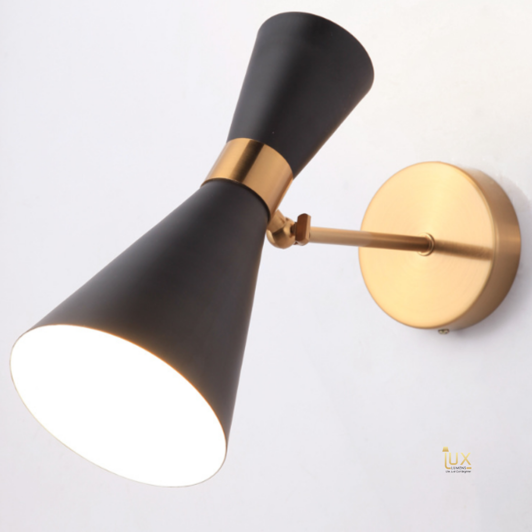 Modern Luxe Wall Lamp in Luxurious Gold Handles. Singapore Lighting for BTO, Resale, EC, Condo, Landed, Restaurants, Retail & Cafes. Free Delivery