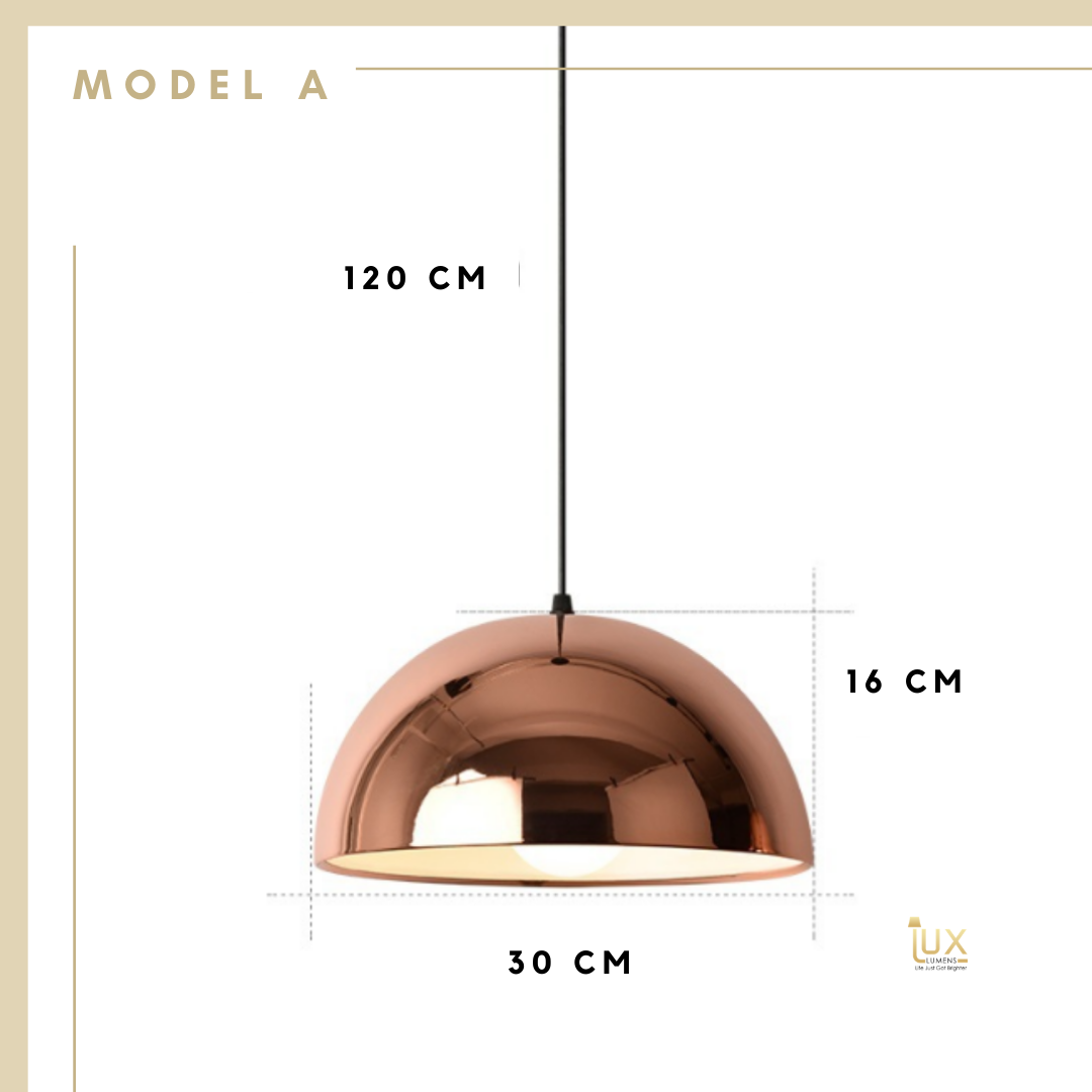 Singapore's Fully-Online Lighting Gallery - Rose Gold Pendant Light with Free-Delivery for all BTO, Resale, EC, Condo, Landed, Restaurants, Cafes, Hotels & Retail Lighting