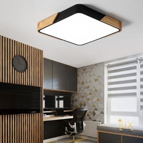 Get the Macron-Wood | Square LED Ceiling Light from Lux-Lumens, Singapore's Fully-Online Lighting Retail to complement your Modern Themes. Instant utility savings of up to 40% choosing LED Ceiling Lights. Free Island-wide Delivery - No Minimum Purchase for all BTO, Resale, EC, Condo, Restaurants, Cafes, Hotel & Retail Lighting.