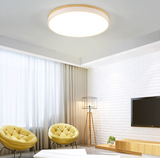 Scandinavian Wood Acrylic | Round LED Ceiling Light