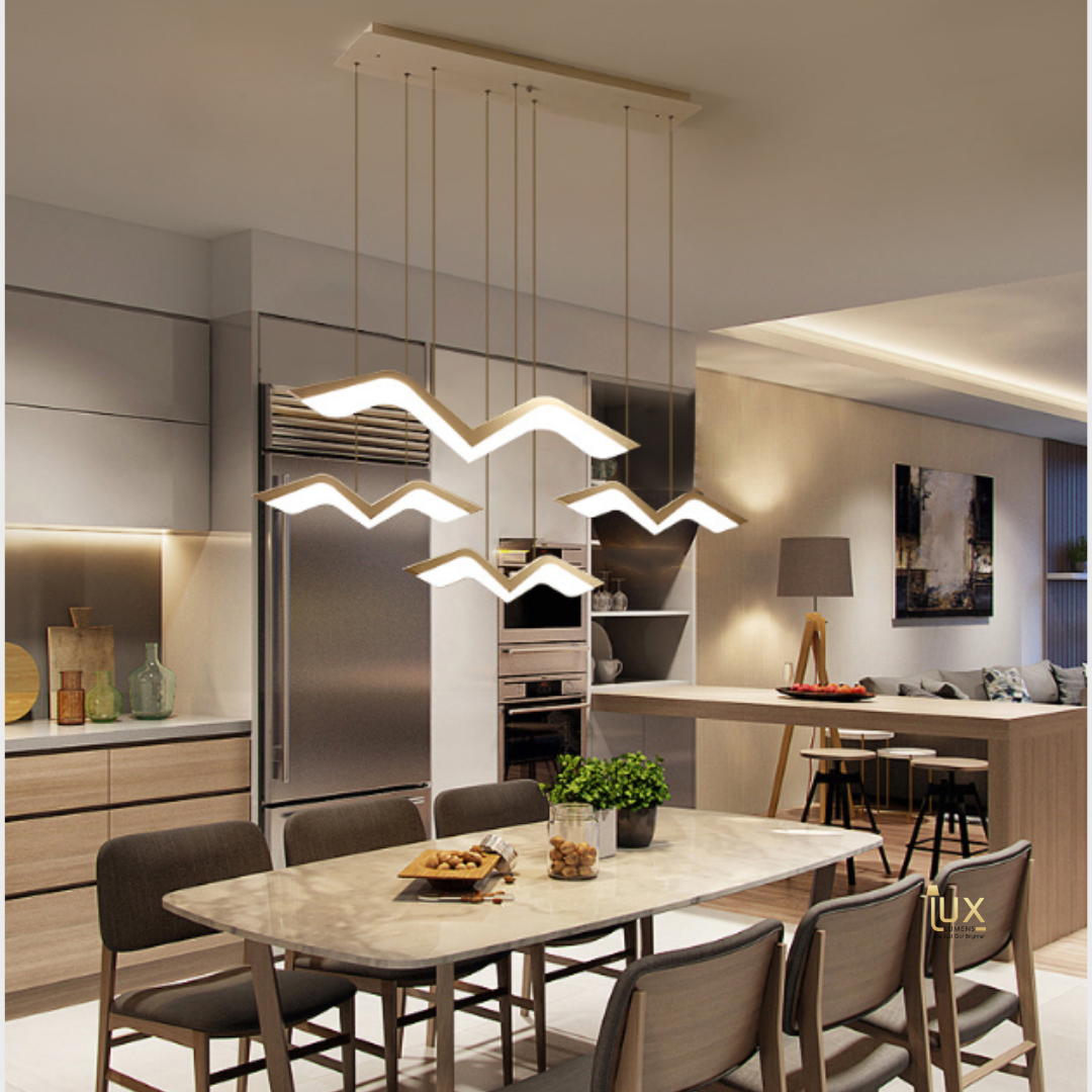 Singapore's Fully-Online Lighting Gallery - Pendant Lights, LED Ceiling Lights & Fans. Modern Contemporary Halo Designer Pendant Light. Instant utility savings of up to 40% by fitting the lamp with LED Bulbs. Free Island-wide Delivery - No Minimum Purchase for all BTO, Resale, EC, Condo, Restaurants, Cafes, Hotel & Retail Lighting.