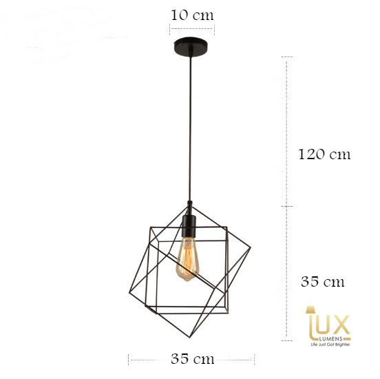 Minimalist Abstract Pendant Lights with intricate geometric lines. Lux-Lumens, Singapore's Fully Online Lighting Retail. Free Delivery for all BTO, Resale, EC, Condo, Landed, Restaurants, Hotels, Cafes & Retail Lighting