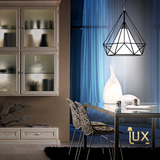 Minimalist Caged Pendant Light with Lamp Shade from Lux-Lumens Singapore Fully-Online Lighting Retail. Free Delivery for all BTO, Resale, EC, Condo, Landed, Restaurants, Cafes, Hotels & Retail Lighting.