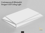 Minimalist Boxed Designer LED Ceiling Light. 24W, 36W & 48W. Available in Tri-Tone & Remote Controlled Options! Free Delivery, No Minimum Purchase