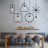 Minimalist Geometric Lines Pendant Light