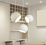 Minimalist Bowl-Adjustable Pendant Light from Lux-Lumens | Singapore's fully-online lighting retail. Pendant and LED Ceiling Lights/Fans for HDB BTO, Resale, EC, Condo, Landed, Restaurants, Cafes and Hotels