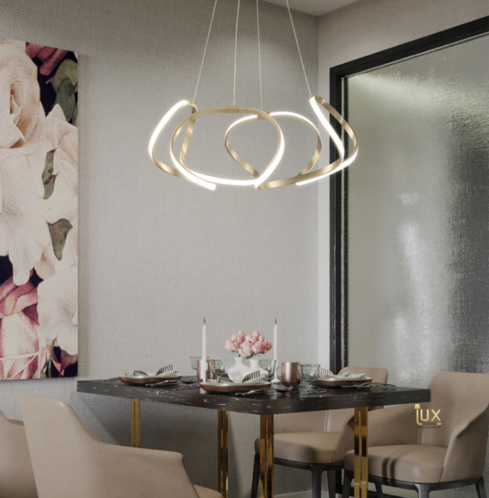 Contemporary Luxurious Crown Pendant Light