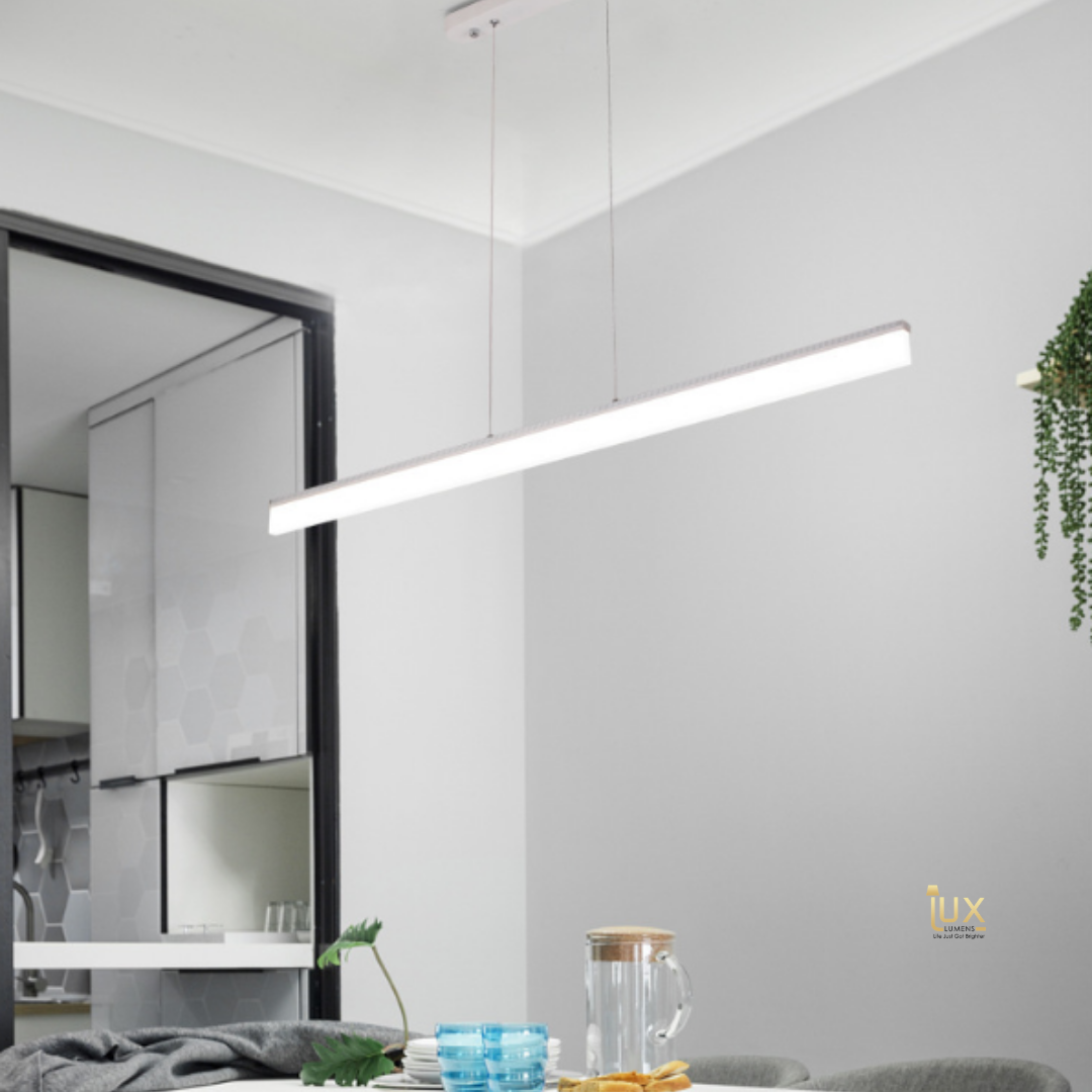 Modern Linear - Ultra Slim Pendant Light. Quality lighting in Singapore, Free Delivery for all BTO Lighting, Resale Lighting, EC Lighting, Condo Lighting, Landed Lighting, Restaurant Lighting, Cafe Lighting & Retail Lighting