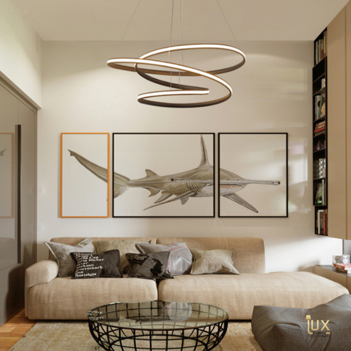 Singapore's Fully-Online Lighting Gallery - Pendant Lights, LED Ceiling Lights & Wall Lamps. Modern Contemporary Halo Designer Pendant Light. Instant utility savings of up to 40% by fitting the lamp with LED Bulbs. Free Island-wide Delivery - No Minimum Purchase for all BTO, Resale, EC, Condo, Restaurants, Cafes, Hotel & Retail Lighting.