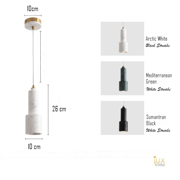 Marble Pendant Light in Singapore. Gold Lamp Handles and Soft Glowing Hues of LED Light for all BTO Lighting, Resale Lighting, EC Lighting, Condo Lighting, Landed Lighting, Cafe Lighting & Retail Lighting. .