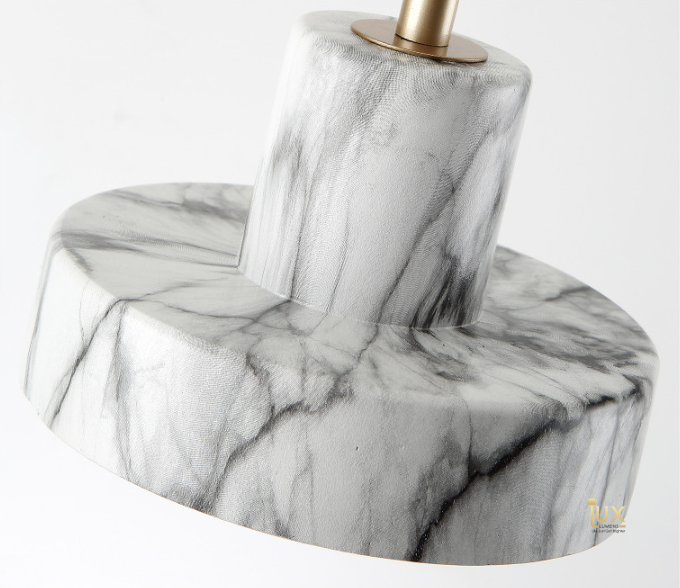 Marble Pendant Light in Singapore. Gold Lamp Handles and Soft Glowing Hues of LED Light for all BTO Lighting, Resale Lighting, EC Lighting, Condo Lighting, Landed Lighting, Cafe Lighting & Retail Lighting.