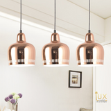 Lux-Lumens | Singapore's Fully-Online Lighting Retail - Rose Gold Pendant Light with Free-Delivery for all BTO, Resale, EC, Condo, Landed, Restaurants, Cafes, Hotels & Retail Lighting