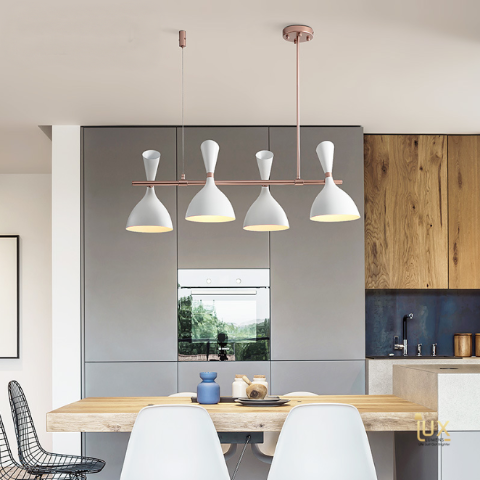 Rose Gold Pendant Light for Dining Area of BTO, Resale, EC, Condo, Landed, Restaurants, Hotels, Cafes & Retail Lighting. Compatible with LED Bulbs. Free-Delivery - No Min Purchase