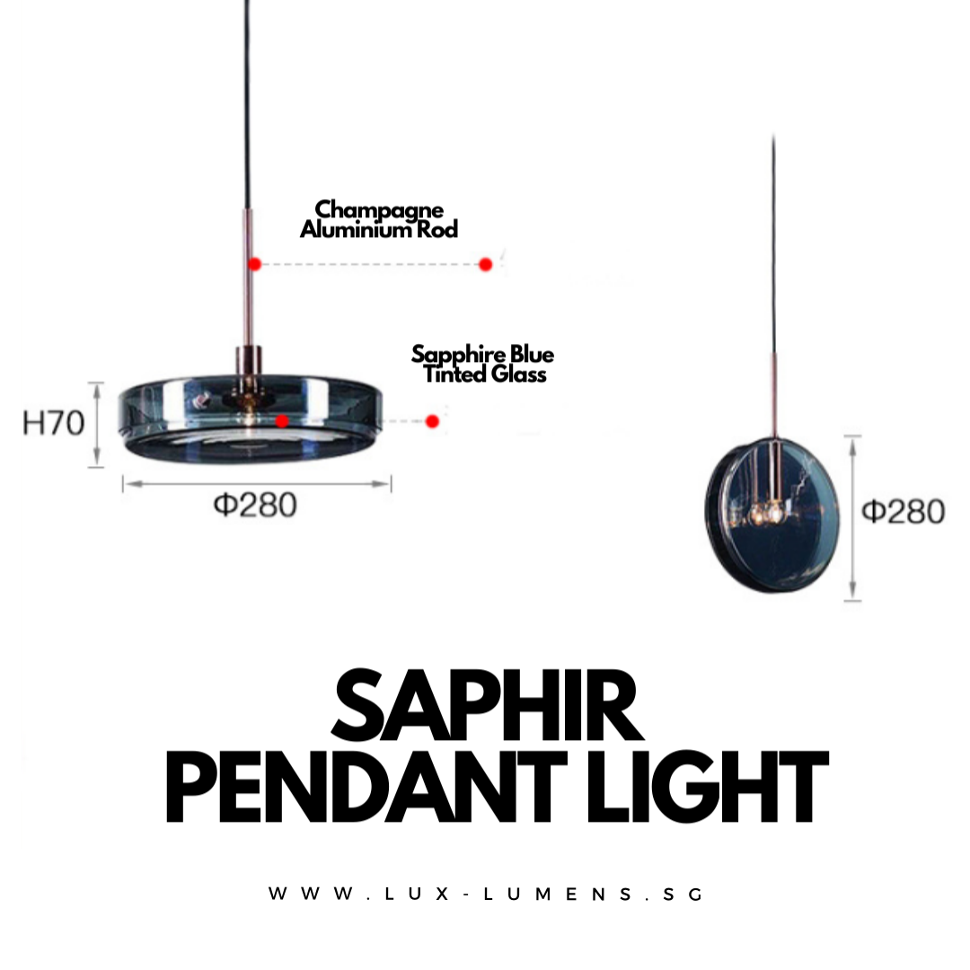 Singapore's Fully-Online Lighting Gallery - Pendant Lights, Hanging Lamps, LED Ceiling Lights, Ceiling Fixtures & Wall Lamps. Saphir - Glassware Pendant Light with Free Delivery - No Min. Purchase for all BTO Home Lighting, Resale Home Lighting, EC / Condo Home Lighting, Restaurants Lighting, Cafes & Retail Lighting.