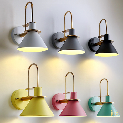 Scandinavian Luxurious Wall Lamps in Macron Colours, Compatible with LED Bulbs. Free Island-wide Delivery - No Minimum Purchase for all BTO, Resale, EC, Condo, Restaurants, Cafes, Hotel & Retail Lighting