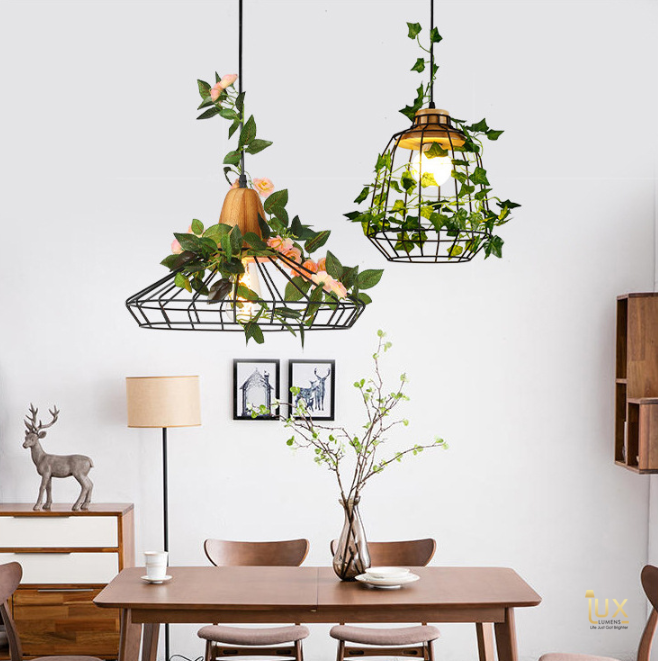Scandinavian Malmo Pendant Light, Wooden Handles and Matte Black Metal Cages Body. Free Delivery for all BTO, Resale, EC, Condo, Landed, Restaurants, Hotels, Cafes & Retail Lighting