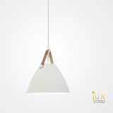 Lux-Lumens | Singapore's Fully-Online Lighting Retail - Pendant Lights, LED Ceiling Lights & Fans. Complement your Scandinavian & Nordic Themed Homes/Business with the Scandinavian Leather-Belt Pendant Light. LED Bulbs Compatible. Free Island-wide Delivery - No Minimum Purchase for all BTO, Resale, EC, Condo, Restaurants, Cafes, Hotel & Retail Lighting.