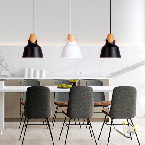 Singapore's Fully-Online Lighting Retail - Pendant Lights, LED Ceiling Lights & Fans. Scandinavian Vivid Colours Pendant Light Hanging Over Dining Area. Free-Island Wide Delivery - No Minimum Purchase for all BTO, Resale, EC, Condo, Restaurants, Cafe, Hotels & Retail.