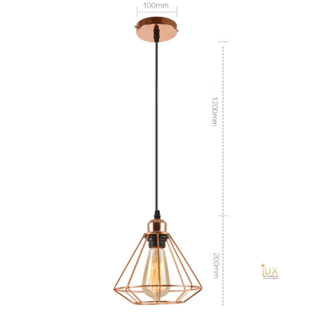 Tràpez - Rose Gold Pendant Light