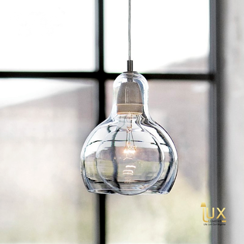 Modern Vacuum Glass Pendant Light in 3 colours from Lux-Lumens, Singapore's Fully-Online Lighting Retail for BTO, Resale, EC, Condo, Landed, Restaurants, Cafes, Hotels & Retail Shops. Free-Delivery, No Minimum Purchase in Singapore!