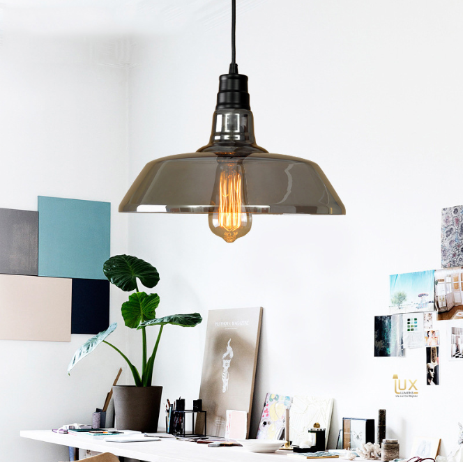 Vintage San Antonio Pendant Light with Ash Black, Clear Glass and Vintage Colours, compatible with LED Edison Light Bulbs from Lux-Lumens, Singapore's Fully-Online Lighting Retail for BTO, Resale, EC, Condo, Landed, Restaurants, Cafes, Hotels & Retail Shops. Free-Delivery, No Minimum Purchase!