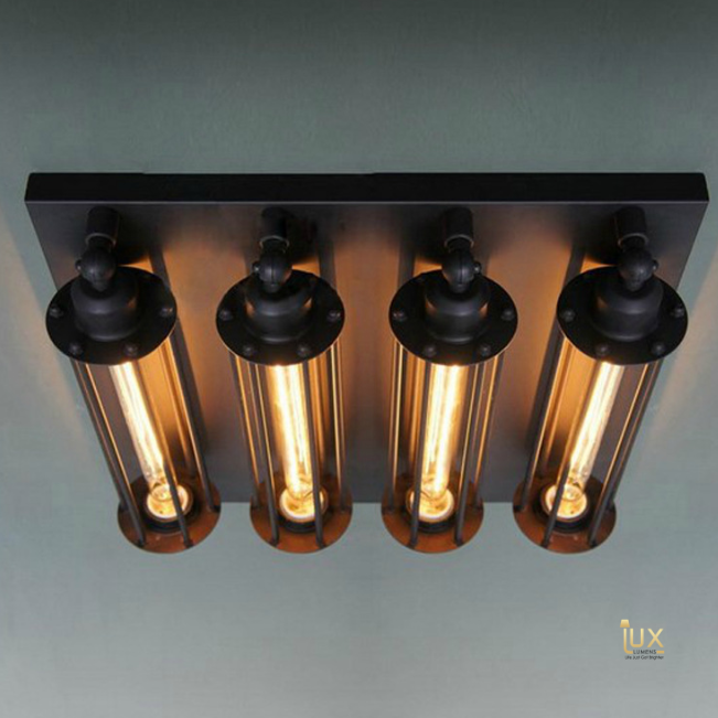 Singapore Vintage Industrial Edison Bulbs Pendant Lights, Affordable, Cheap & High-Quality Lighting - Vintage Industrial Cement Pendant Light with gold handles and grey cement body from Lux-Lumens, Singapore's Fully-Online Lighting Retail for BTO, Resale, EC, Condo, Landed, Restaurants, Cafes, Hotels & Retail Shops. Free-Delivery, No Minimum Purchase!