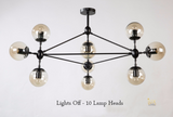 Vintage Industrial Austin Ceiling Chandelier. Unique Lighting Chandeliers in Singapore for BTO, Resale, Condo, Landed, EC, Cafes, Restaurants, Retail & Hotel. Free Delivery