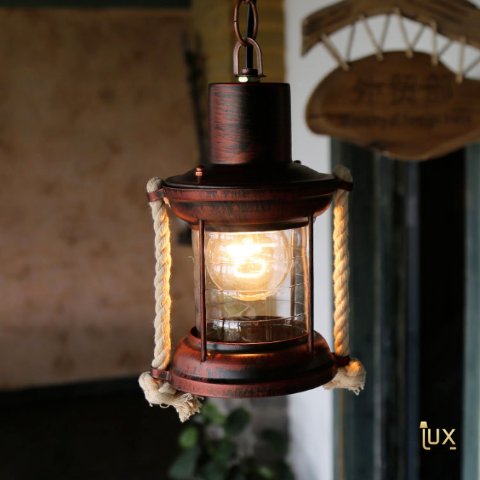 Vintage Industrial Georgia Pendant Light with Antique Gold & Bronze Oven-baked Paintwork fitted with LED Edison Bulbs for a complete Industrial feel from Lux-Lumens, Singapore's Fully-Online Lighting Retail for BTO, Resale, EC, Condo, Landed, Restaurants, Cafes, Hotels & Retail Shops. Free-Delivery, No Minimum Purchase!