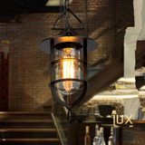 Vintage Industrial Indiana Pendant Light with Matte Black Oven-baked Paintwork fitted with LED Edison Bulbs for a complete Industrial feel from Lux-Lumens, Singapore's Fully-Online Lighting Retail for BTO, Resale, EC, Condo, Landed, Restaurants, Cafes, Hotels & Retail Shops. Free-Delivery, No Minimum Purchase!