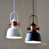 Vintage Industrial Kentucky Pendant Light (II) with Matte White/Black Oven-baked Paintwork fitted with LED Edison Bulbs for a complete Industrial feel from Lux-Lumens, Singapore's Fully-Online Lighting Retail for BTO, Resale, EC, Condo, Landed, Restaurants, Cafes, Hotels & Retail Shops. Free-Delivery, No Minimum Purchase!