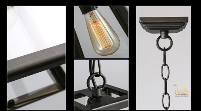 Vintage Michigan Pendant Light with Matte Black Oven-baked Paintwork and compatible with LED Edison Light Bulbs from Lux-Lumens, Singapore's Fully-Online Lighting Retail for BTO, Resale, EC, Condo, Landed, Restaurants, Cafes, Hotels & Retail Shops. Free-Delivery, No Minimum Purchase!